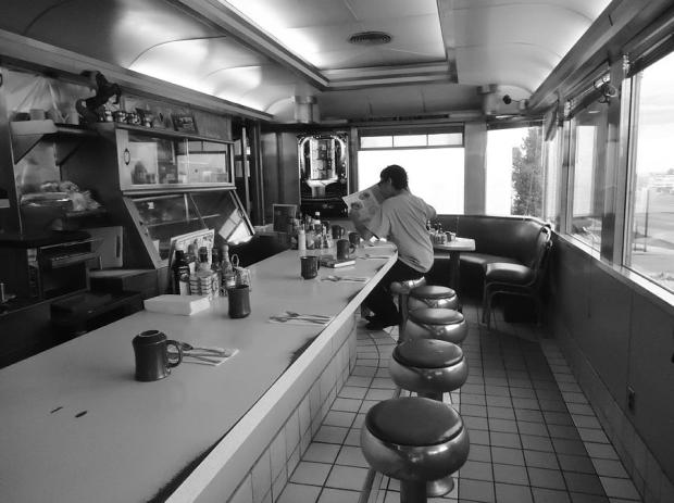 40s Diner Black and White